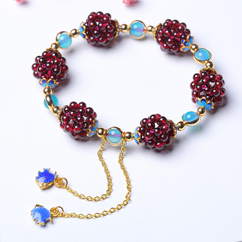 Natural Wine Garnet Bracelet Fashion Accessories