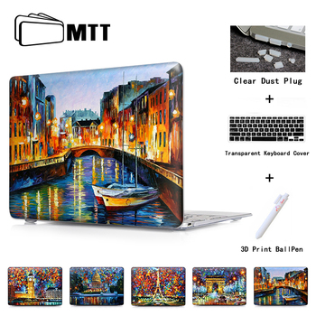 ST. PETERSBURG NEHIR Baskı Hard Case Kol Shell Macbook hava 11 için 12 13/retina ekran ile Macbook pro 13 15 Kristal kapak