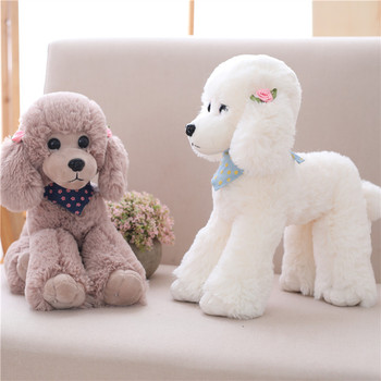 New Coming 1Pc 25-40Cm Scarf dog plush toy poodle dog Stuffed Animal simulation Dog Kids Girlfriend Birthday Gift