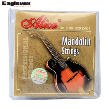 Mandolin Strings 0.011/0.040 inç Kaplama Çelik 85/15 Bronz yara Alice AM05
